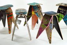 Recycled Skateboard Products by Deckstool Skateboard Recycling / Cool and functional furniture, home and gift items made from real recycled skateboards. Inspired by skateboarding and modern design.