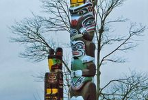 Native American Art- totem poles ...