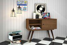 Um #Toque Vintage / Os anos 50 nunca estiveram tão na moda como hoje. Isso, é claro, se reflete na decoração. É difícil resistir a ter pelo menos um móvel com o estilo retrô em casa, não?