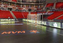 EHF Final 4 Budapeszt 2015 / Profesjonalne bramki do piłki ręcznej, handball goals.