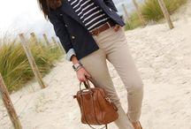 Preppy style women summer