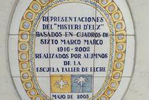 Mosaicos del Puente de la Virgen (puente de Santa Teresa)