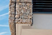 Gabion wall house