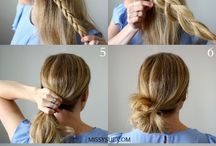 Hair up styles step by step