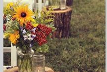 Mercedes Wedding / Sunflowers and Backyard Wedding