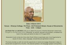 Dr Neville Alexander's book launch / Khanya College, Jozi Book Fair in association with Jacana publishers bring you Dr Neville Alexander's book launch