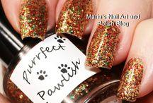 Various nail polish collection