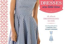 Sew Many Dresses, Sew Little Time book by Tanya Whelan / The book includes a set of interchangeable patterns for 6 skirts and 8 bodices that line up perfectly at the waist, plus an additional 4 sleeve styles and 4 necklines. Tanya gives readers clear instructions and easy-to-follow step-by-step diagrams that allow them to use the enclosed pattern pieces to create up to 219 fitted dresses, including simple strapless designs, sheaths, and halter gowns. The book covers basic dress construction and altering techniques for women of all shapes and sizes. / by Tanya Whelan