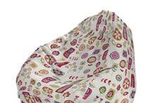 Babzsákfotel - Dekoria Beanbag / dekoria márkás babzsákfotelek, cipzáros külső huzat, amely levehető, kimosható