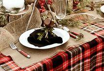 cozy christmas table