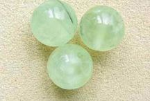 Stone Beads > Prehnite Beads / Natural Prehnite beads in a variety of shapes, sizes and styles.