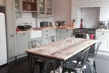 Vintage industrial kitchen