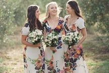 Bridesmaid Dresses / Who said that bridesmaid dresses need to be boring? Floral, shimmering, stripes and more..... #weddingplanning