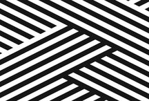 black and white geometries / squares, triangles, stripes and on