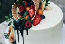 dorty zdobené ovocem