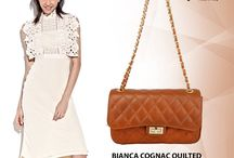 BIANCA COGNAC QUILTED ITALIAN LEATHER