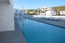 By the Pool / Awaken your senses as you dive into a fantasy world at Patmos Aktis Suites & Spa. http://goo.gl/CRPfZf #patmos #Greece #summer #pool