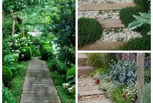 Beautiful ideas of garden paths with wood