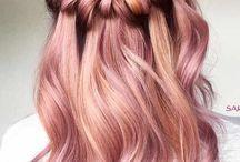 hår pink