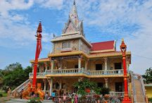 Chen Kieu Pagoda in Soc Trang / Chen Kieu Pagoda is a Khmer-styled pagoda in the Mekong Delta province of Soc Trang. There are a number of the #Buddha statues of various sizes in the garden of #ChenKieuPagoda, each representing different teachings of w#Buddhism.