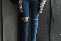 Un jeans qui vas ô meuf stylé