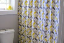 bathroom - yellow and gray