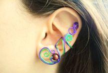 Handmade wire earcuffs