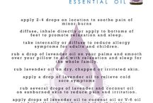 Essential oils and skin care