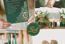 Emerald & Gold / Colour palette inspiration for Somerley House Weddings.