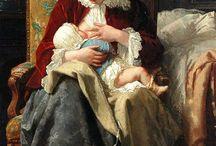 ilustraciones de una madre