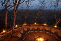 Ghoha Hills, Savuti / The lodge is situated high up on the Ghoha Hills, with spectacular views of the surrounding bush. The views are unique and awe inspiring, particularly due to the fact that Botswana is such a flat country. The stars feel closer and more pronounced, stretching from horizon to horizon. The main area in the lodge has a thatched roof which helps the lodge blend into the surrounding hillside.