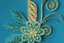 Quilling pictures, cards etc