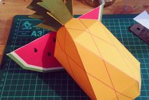Mr printable  / Paper fruit
