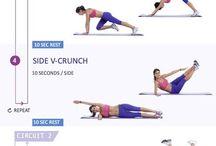 trening - plank, deska