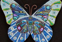Mariposa en mosaico