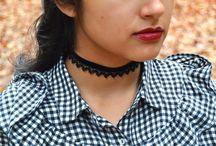 Velvet Ribbon Chokers / #velvetribbon #blackvelvetchoker #burgundyvelvetchoker #velvetchokercharms #swarovskicrystal