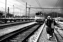 Černobílé Vlaky