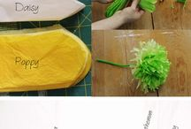 Seidenpapier Blumen