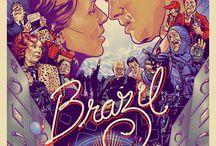 """Terry Gililam """"Brazil"""" 1985 / Ostatnio obejrzałem ten film i muszę przyznać, że mimo upływu lat temat jest BARDZO aktualny :) Oczywiście dobry film jest inspiracją do alternatywnych plakatów.  Plus kilka zdjęć z planu :v"""