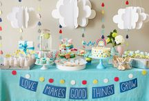 Clouds and Raindrops Themed Baby Shower
