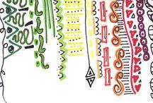 Tangles, ZIA, Zentangle Inspired Art, doodles / by Kristy Speer -