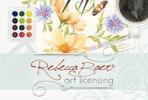 Rebecca Baer® Art Licensing / RebeccaBaer.net | License original Rebecca Baer® designs | View products featuring art by Rebecca Baer
