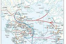 Grécia antiga / mapas e artigos