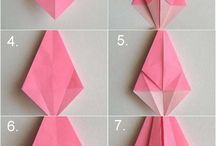 Origami / various kinds of origami, the manufacturing procedures. with cute funny.