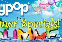 JollyPops Specials / Summer '14 is Awash with Free JollyPops with Personalized Clips, CuddleSquare, Spunky & more!