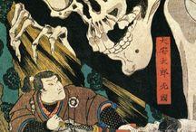 Japán színes fametszetek, egyéb képek