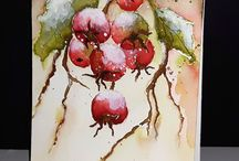 Christmas watercolor ideas