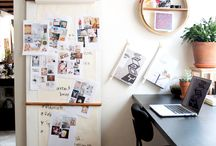 Creative Space / Create an inspiration station whether it be at home or the office where the mind makes magic. Our Creative Space Pinterest Board will have the creative juices flowing in no time.