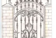 Pagar wrought Iron