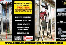 Echelles télescopiques Woerther / Venez découvrir notre gamme de produits Woerther sur notre site internet www.echelle-telescopique-woerther.com